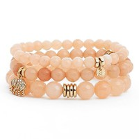 Women's Sequin 'Color Karma' Bead Stretch Bracelet