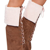 Lace-Up Moccasins Leg Warmers