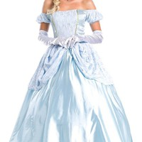 MapleClan Princess Cosplay Cinderella Dress with Dress-up Accessories