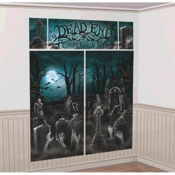 Cemetery Halloween Wall Decorating Kit