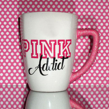VS Pink Addict Bling Rhinestone Coffee Cup - YOU CUSTOMIZE!