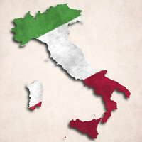 Italy Map Art with Flag Design Digital Art by World Art Prints And Designs - Italy Map Art with Flag Design Fine Art Prints and Posters for Sale