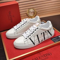 DCCK Valentino Men's Leather VLTN OPEN Sneakers Shoes
