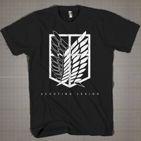 Shingeki No Kyojin-Scouting Legion  Mens and Women T-Shirt Available Color Black And White