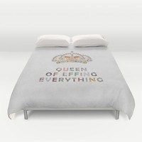 her daily motivation Duvet Cover by Bianca Green