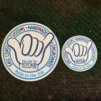 """SHARE THE STOKE Vinyl Laminated Stickers 3.5"""" and 2"""""""