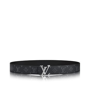 LOUIS VUITTON Men's LV Initiales 40 MM Reversiable Monogram Eclipse