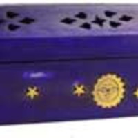 Sun & Moon Incense Burner and Holder Purple 12 inches