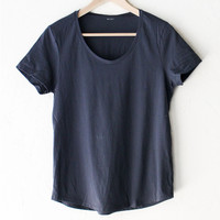 Scoop Neck Tee - Grey