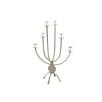 Alonso Silver Candle Holder by Worlds Away