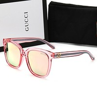 Gucci Women Casual Sun Shades Eyeglasses Glasses Sunglasses Pink