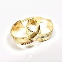 Feathered  18Kts of Gold Plated Earrings Hoops