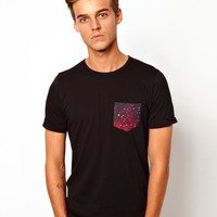 Another Influence   Another Influence T-Shirt With Galaxy Pocket at ASOS