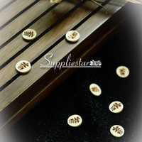 10 pcs of Leaf Design Wooden Button with 2 Holes For Garment, Item No. 295