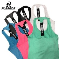 ONETOW ALBREDA Professional yoga vest sleeveless solid color loose Quick Drying running Gym sport yoga shirt women fitness tank top