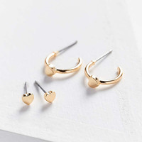 Icon Post + Hoop Earring Set | Urban Outfitters