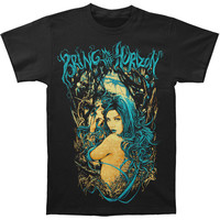 Bring Me The Horizon Men's  Forest Girl Slim Fit T-shirt Black