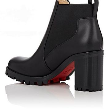 Christian Louboutin Marcharoche Leather Ankle Boots   Barneys New York