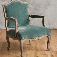 Velvet Viola Occasional Chair by Anthropologie