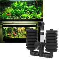 2017 1 Set Aquarium Fish Filter accessories Fish Tank Air Pump Skimmer Practical Aquarium Biochemical Sponge Filter