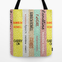 Rainbow Rowell Books Tote Bag by Anthony Londer