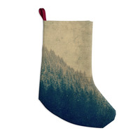 "Robin Dickinson ""Any Road Will Do"" Mountain Tree Christmas Stocking"