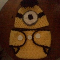Minion (Inspired) Baby Beanie w/ Matching Diaper Cover:Amazon:Everything Else