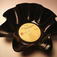 Rolling Stones Recycled Vinyl Record Bowl by recordsandstuff