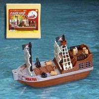 Playmaker Toys Pirate Ship - Bath and Pool Toy - Battery Operated + Waterpower Jet + Directional Control