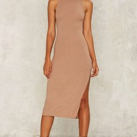 Pia Ribbed Midi Dress