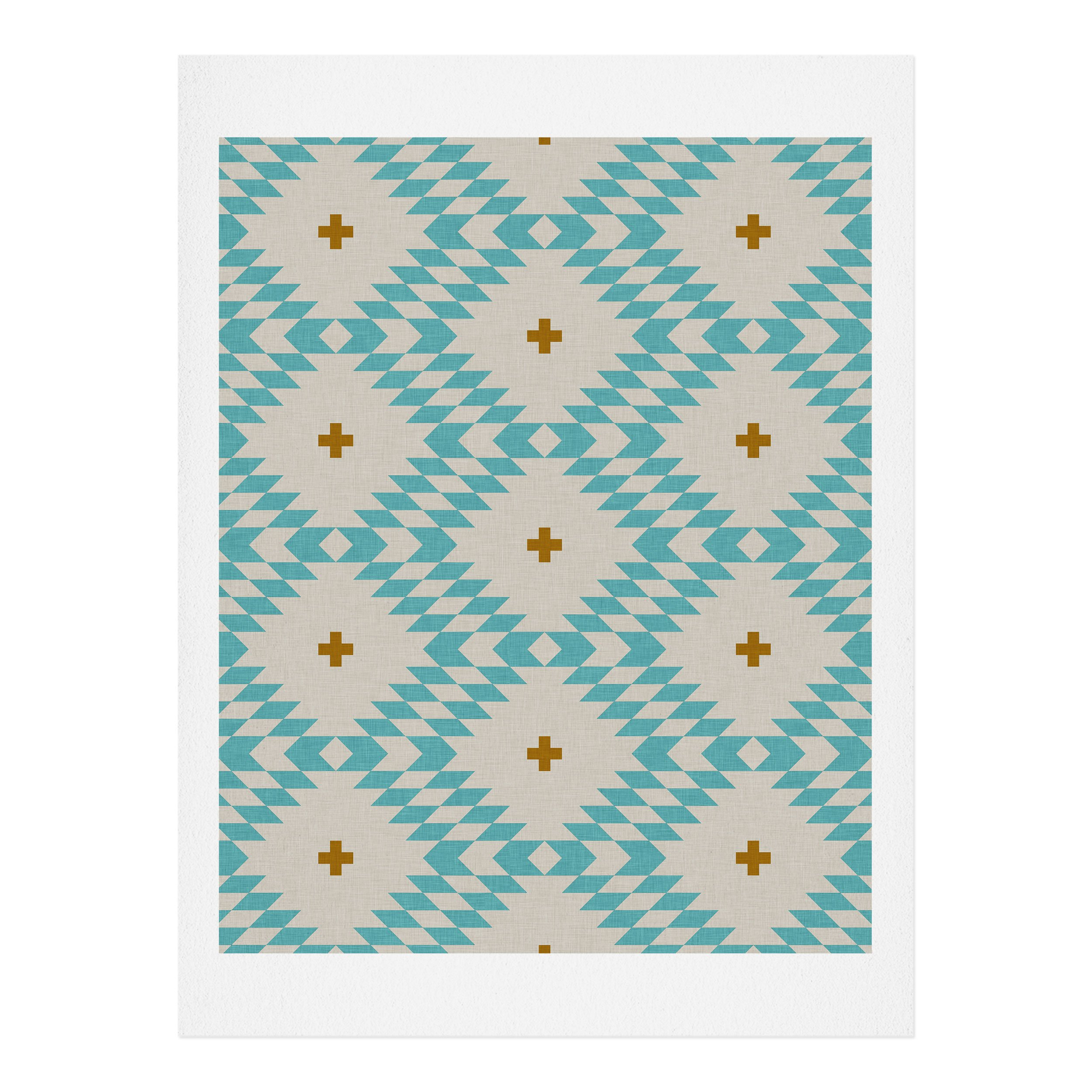 Image of Holli Zollinger Native Natural Plus Turquoise Art Print