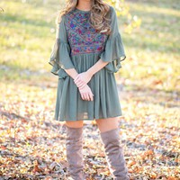 A Dainty Dream Dress in Olive | Monday Dress Boutique