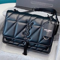 YSL New fashion leather chain handbag shoulder bag crossbody bag Black