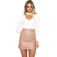 GS121 Womens Winter High Waist Classic Faux Leather Skirt Chic Slim Bodycon Pencil Skirts Casual Autumn Black Short Mini Skirt