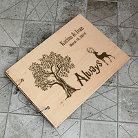 Harry Potter Wedding Guest Book Alternative Ideas Personalised Rustic Wedding Guest Book Wooden Wedding Guest Book Wood Guestbook Custom