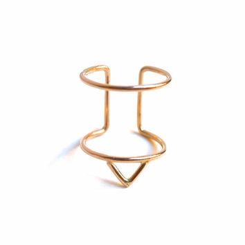 Triangle Cage Ring