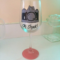 Photographer Wine Glass