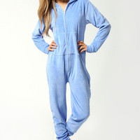 Tina Velour Supersoft Hooded Onesuit