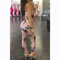 Women Summer Fashion Ruffles Romper Sexy Off Shoulder Floral Printed Party Club Playsuit Jumpsuit Fo