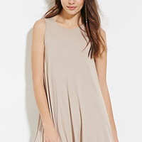 Ribbed Trapeze Dress