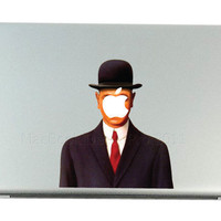 Son of Magritte Mac Decals Apple MacBook Decal by MacBookDecalPro