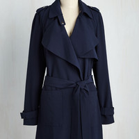 Polished Personality Trench | Mod Retro Vintage Coats | ModCloth.com
