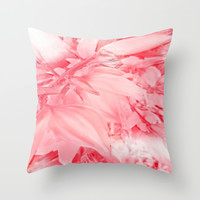 Flowering Branch in Red, Pink and White Throw Pillow by Jenartanddesign