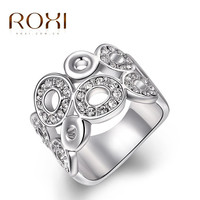 ROXI Christmas Gift Classic Luxury Rings Top Quality Genuine SWR crystal, romantic hand made fashion jewelry,2010017420