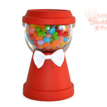 Gumball Machine Centerpiece, Candy Machine Centerpiece, Faux gumball machine, birthday centerpiece, candy buffet, sweet sixteen, custom