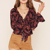 Paisley Lace-Up Top