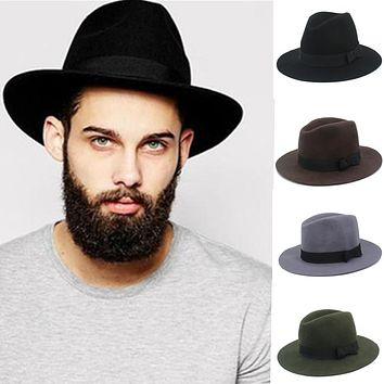 Men's Felt Fedora Hat