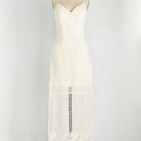 Made in the Crocheted Dress in Ivory