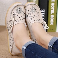 Genuine Leather Ladies Casual Shoes