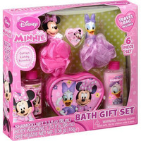 Disney Jr. Minnie Mouse Bath Gift Set - Includes Bonus Travel Bag - Featuring Minnie & Daisy Duck - Cotton Candy Scented